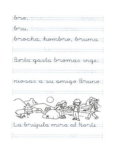 Fichas de caligrafa para imprimir para nios de 4 a 5 aos