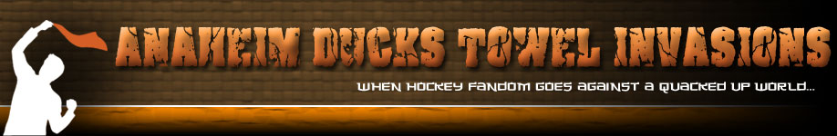 Anaheim Ducks Towel Invasions