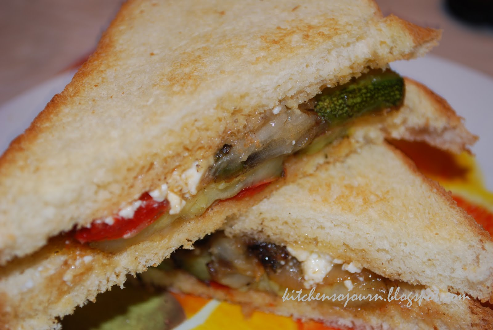 Kitchen Sojourn: Grilled Mediterranean Vegetable Sandwich