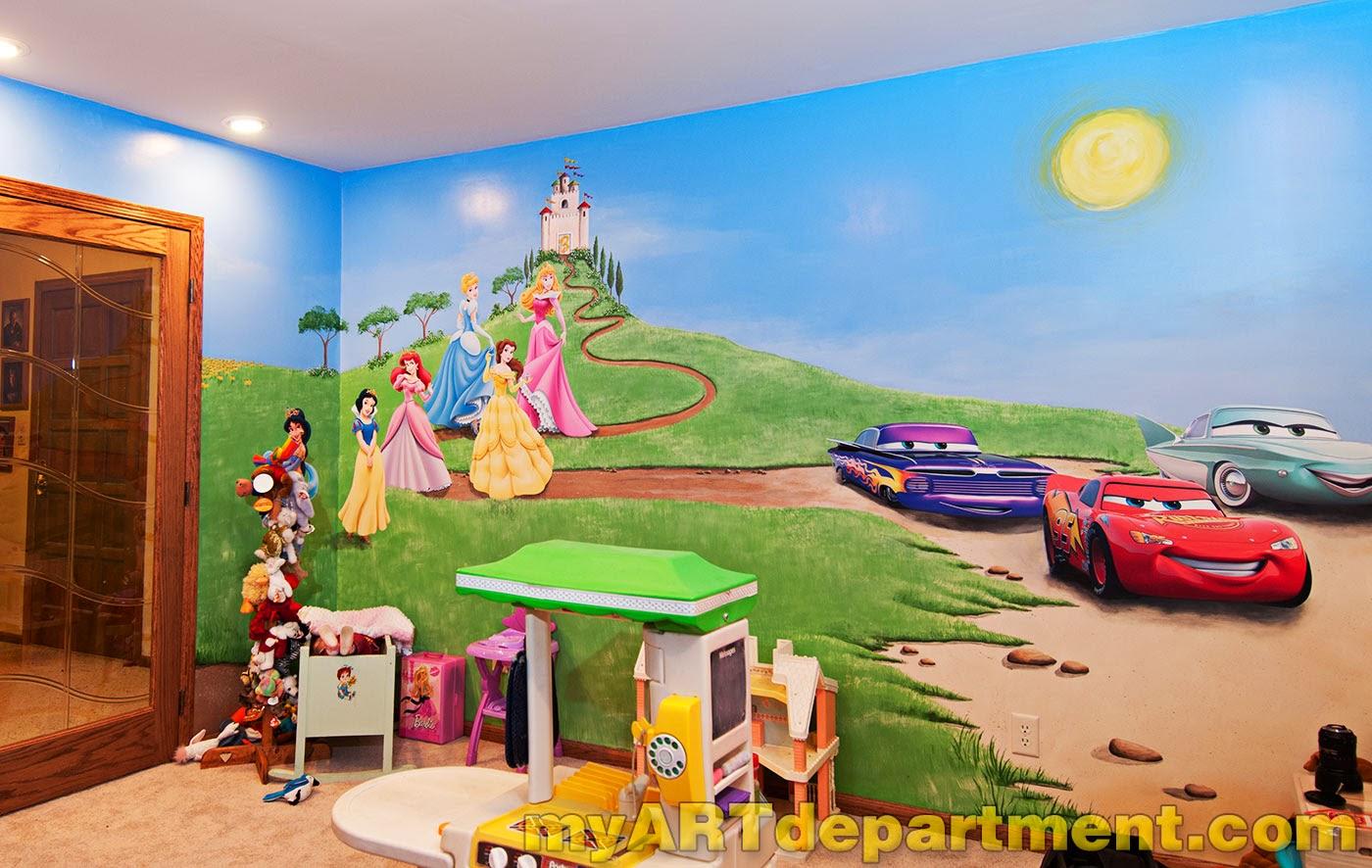 tranh tường phòng em bé