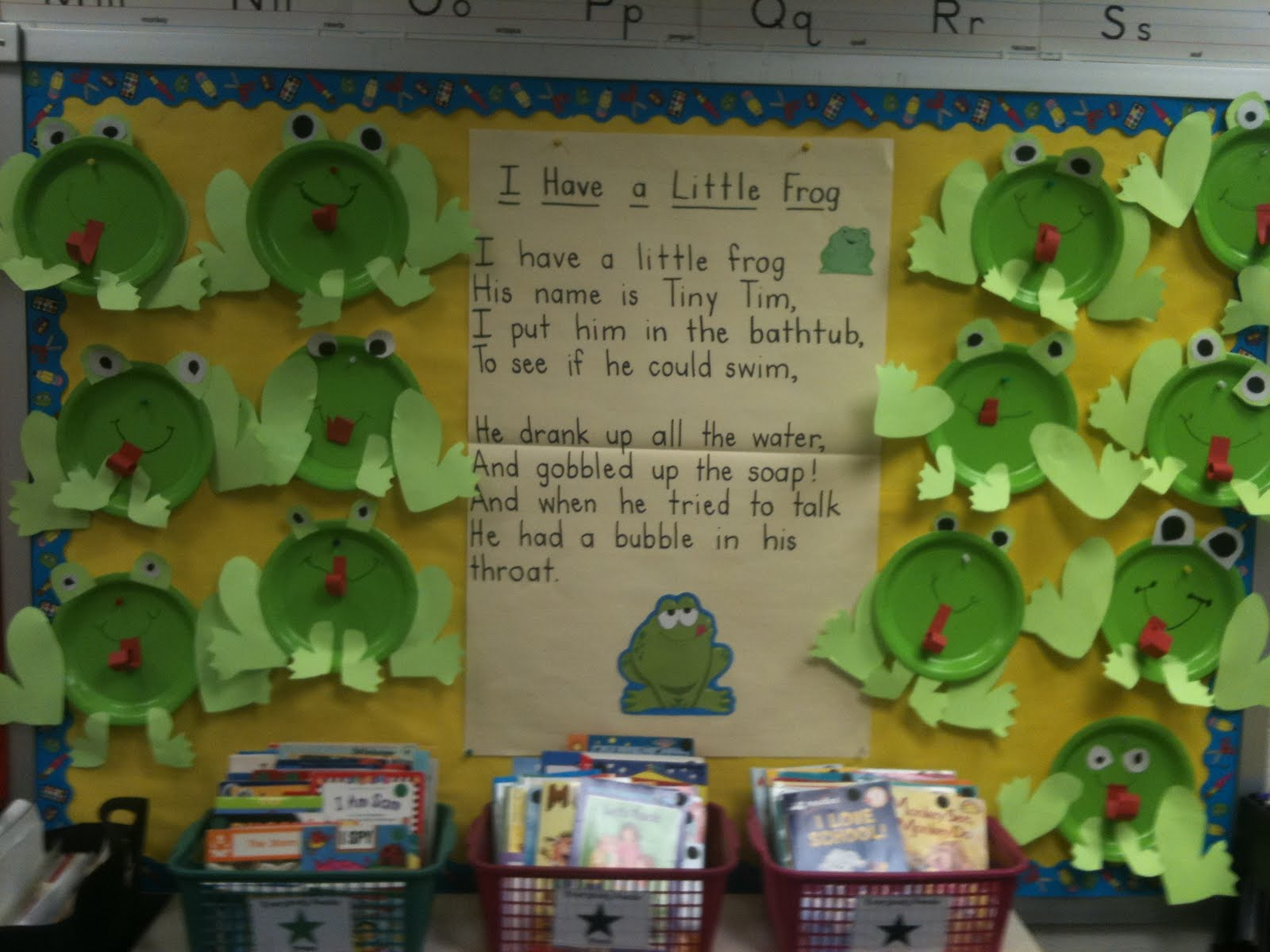 Frog themed classrooms clutter free classroom for Art and craft for classroom decoration
