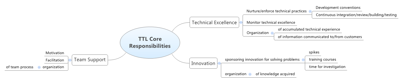 Technical leadership core responsibilities