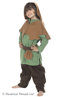 Robin Hood or Merry Man Kids Costume from Theatrical Threads Ltd