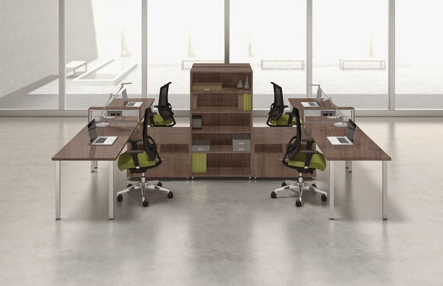 4 Person Open Desking Layout