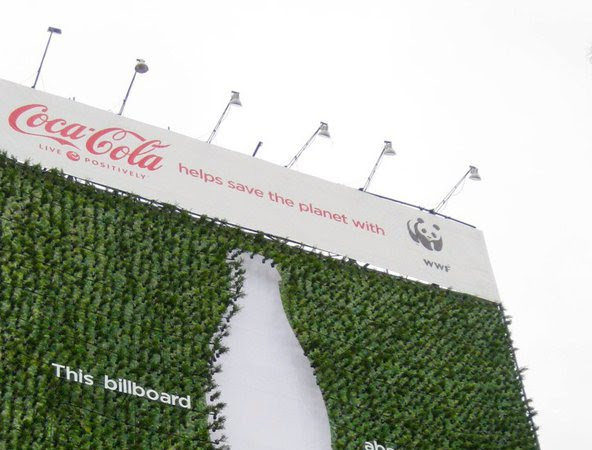 Coca-Cola and WWF urge us to Live Positively