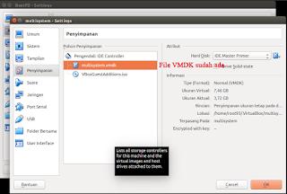 file vmdk telah disertakan dalam mesin virtual baru