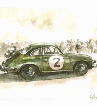 A Arte e o Porsche 356