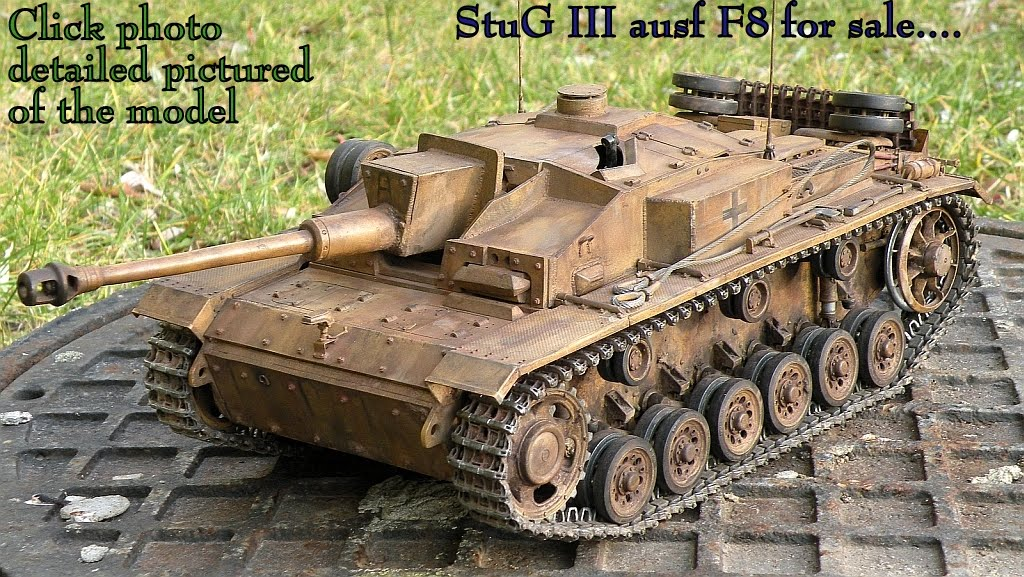 StuG ausf F 1/15 scale for sale