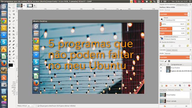 Editor de imagens GIMP