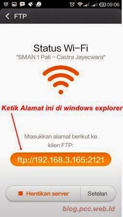 Kopi File dari Xiaomi ke komputer via Wifi