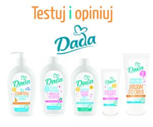 Przetestuj kosmetyki dla niemowląt DADA,darmowe testowanie dla dzieci,testowanie dla dzieci