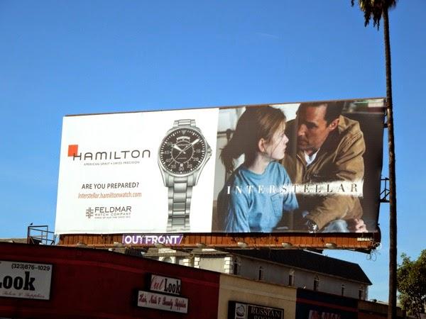 Interstellar Hamilton watch tie-in billboard