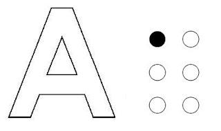 sistema braille letra a
