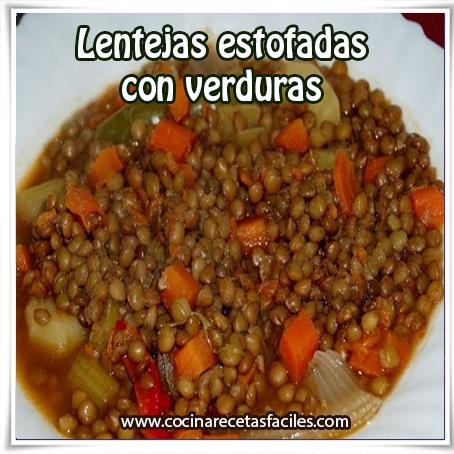 Recetas saludables,  receta de lentejas con verduras