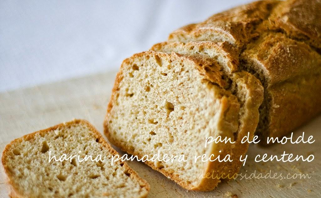 deliciosidades - pan de molde con harina panadera recia y centeno