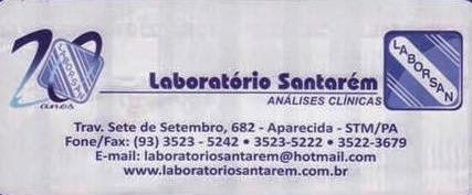 LABORATÓRIO SANTARÉM - ANÁLISES CLÍNICAS