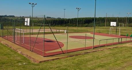 blue tree park lins quadra futebol