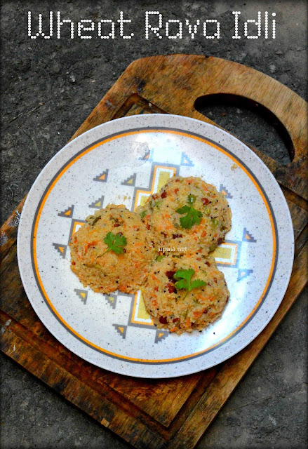 wheat rava idli