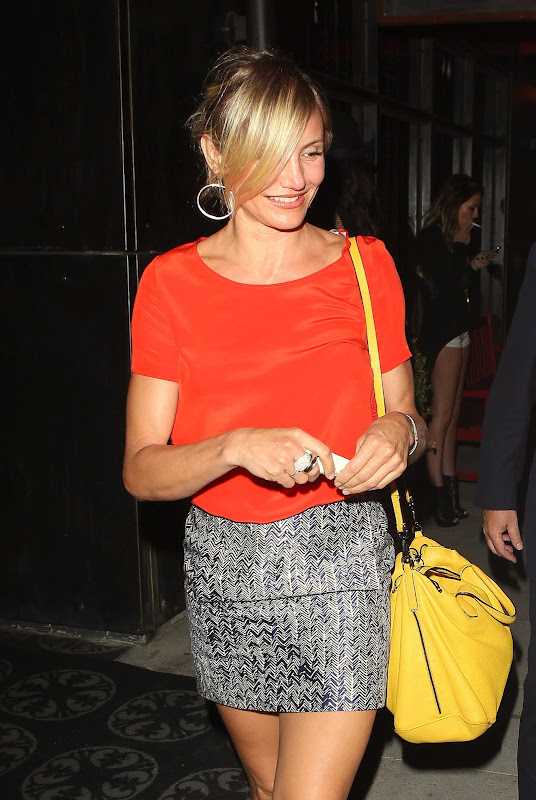 Cameron Diaz leaving her favorite restaurant
