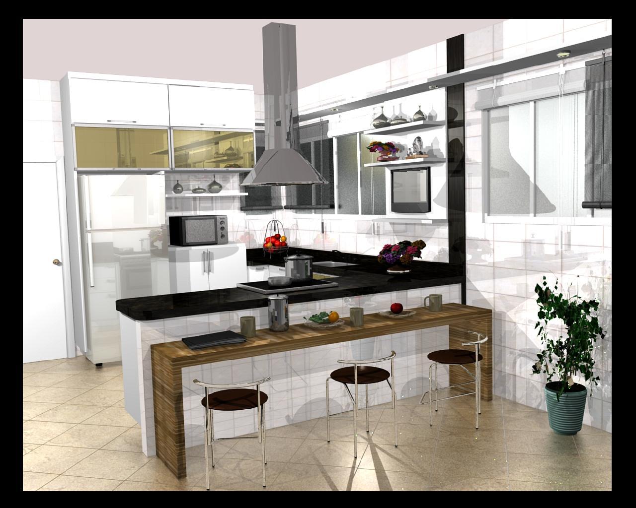 #61492D Cozinhas planejadas: Cozinhas pequenas planejadas 1280x1024 px Bancada De Granito Para Cozinha Americana Preço_2423 Imagens