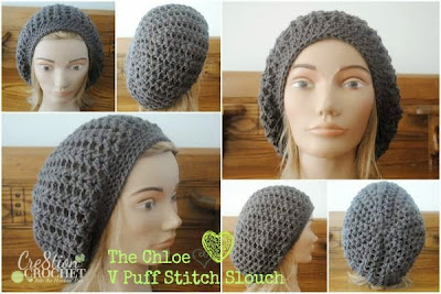 free crochet pattern puff stitch slouch