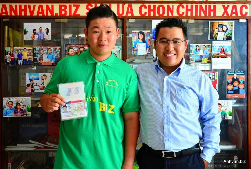Em Bảo BL cùng niềm vui lấy được VISA Mỹ 11-2014