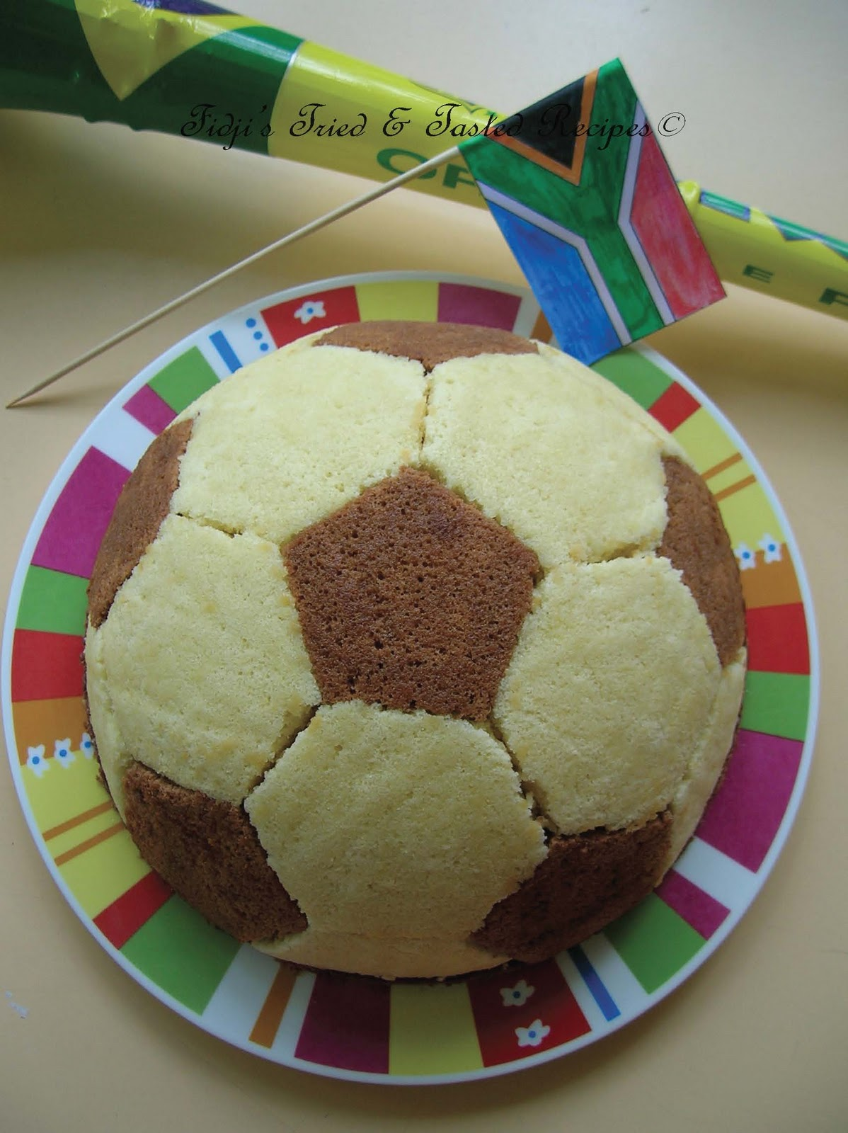 Gateau ballon de foot au chocolat