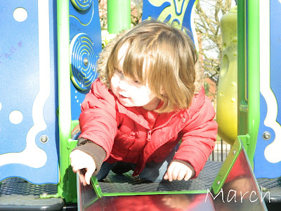 Small boy toddler slide playground