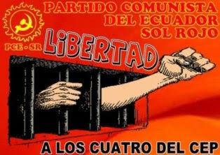 LIBERTAD PARA CUATRO COMPAÑEROS DEL CENTRO DE ESTUDIOS POPULARES DE BOLIVIA