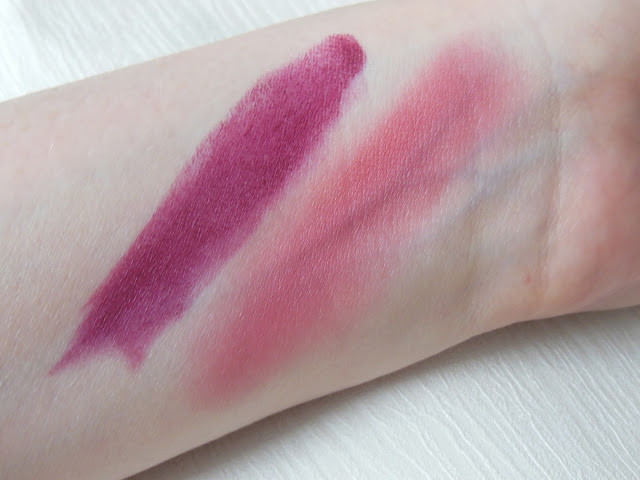 Illamasqua sacred hour shard lipstick and velvet blusher swatch