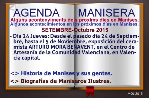 AGENDA MANISERA, SEMANA 40 DE 2015