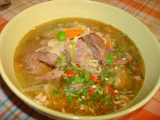 especias noodles morcillo sopa guindilla