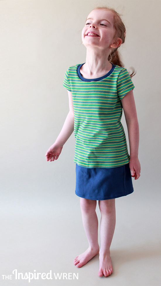 Living Summer in simple knit tees and skirts with built-in shorts. | The Inspire Wren