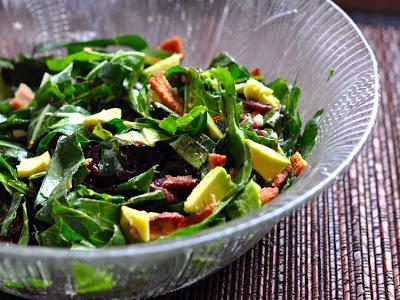 collard salad with lemon dressing