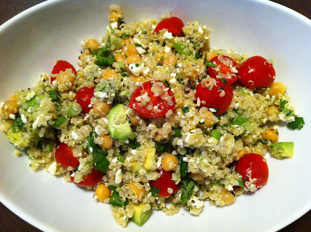 Playing With My Food!: Quinoa Salad with Chickpeas, Avocado, and Feta ...
