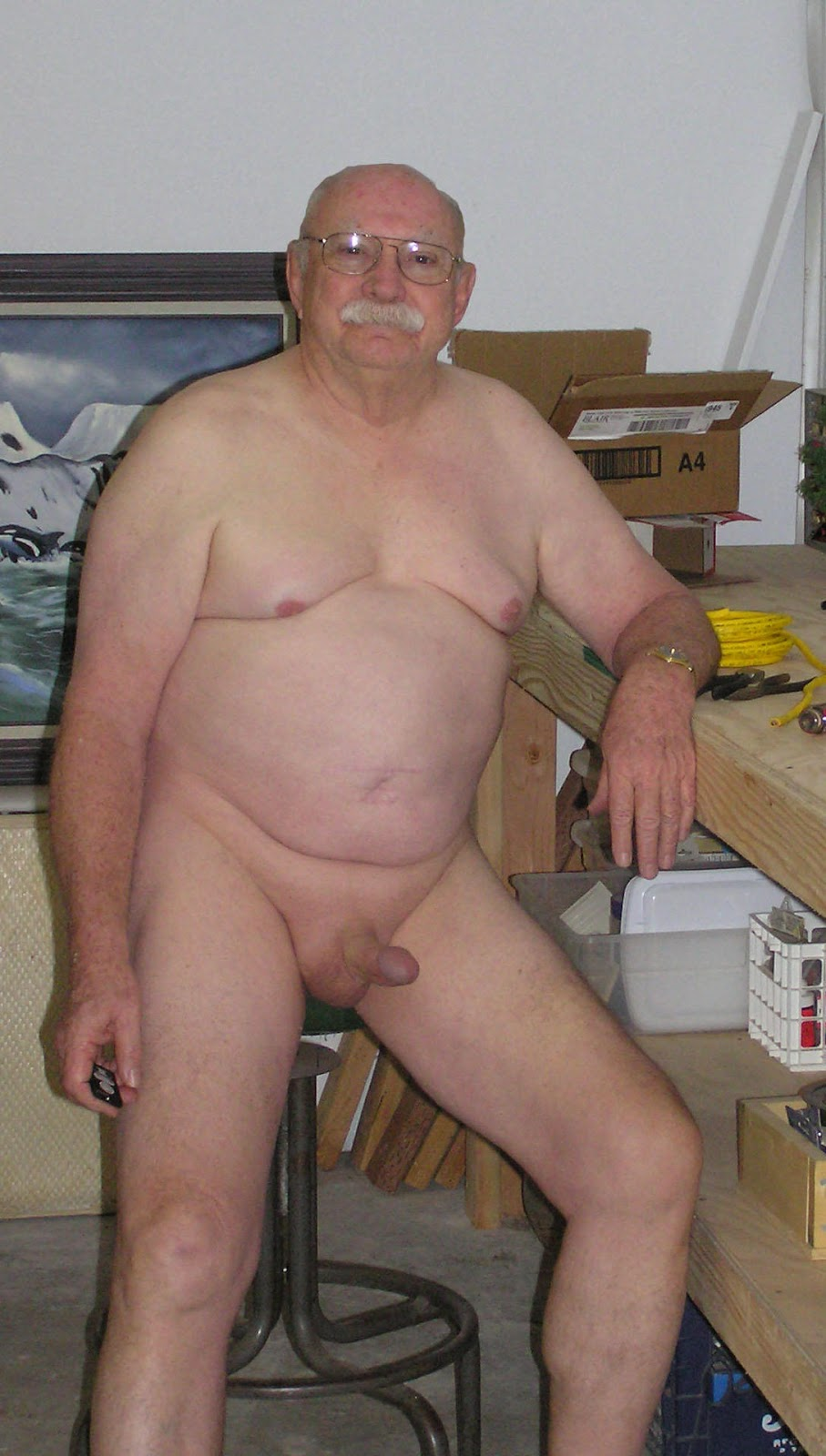 naked grandpa - nude grandpa - oldermen dick