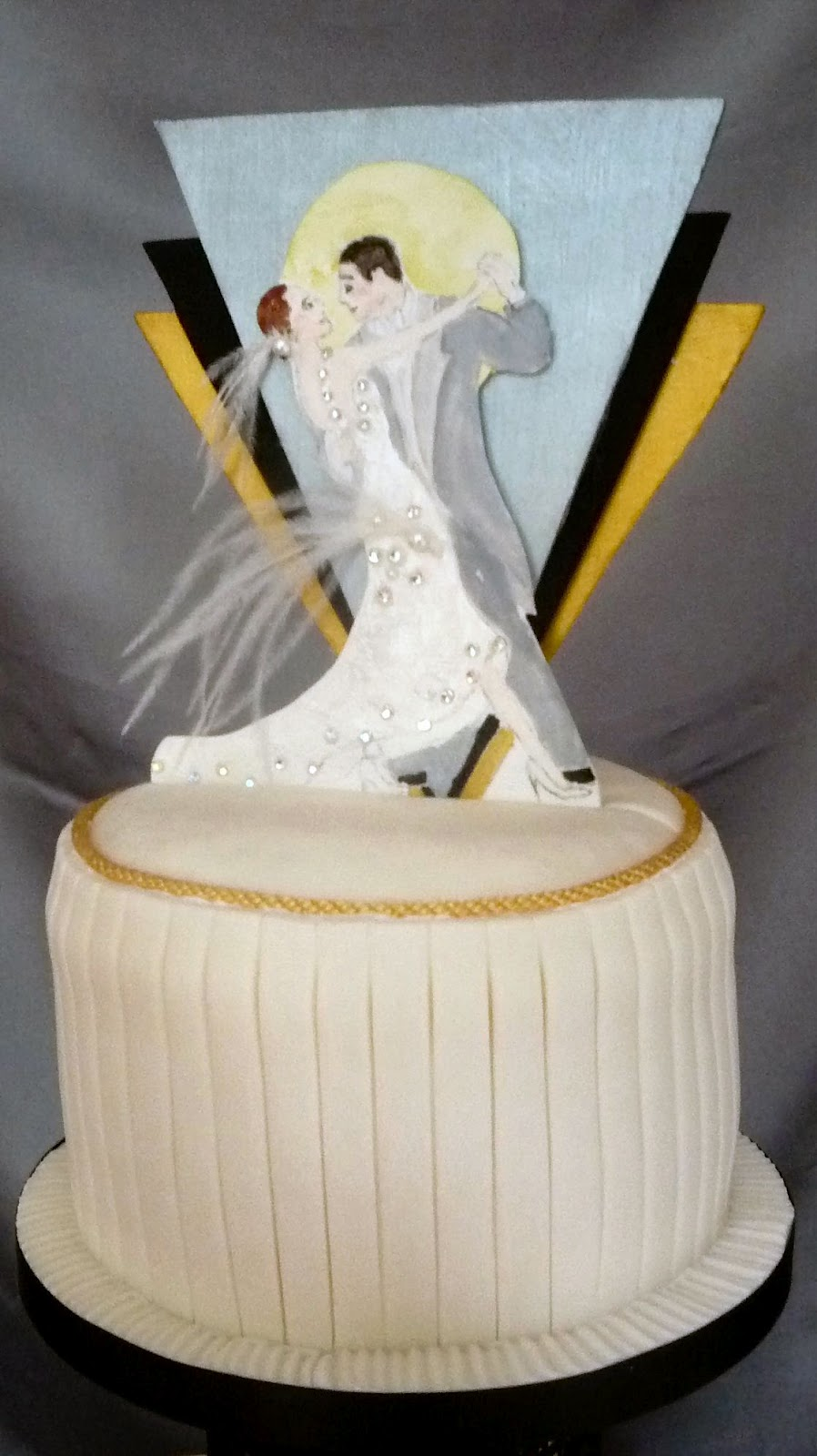 Art Deco Style Cake Topper : wedding cakes by franziska: Art Deco Wedding cake design