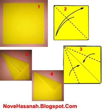 langkah-langkah atau cara membuat origami burung merak untuk anak-anak