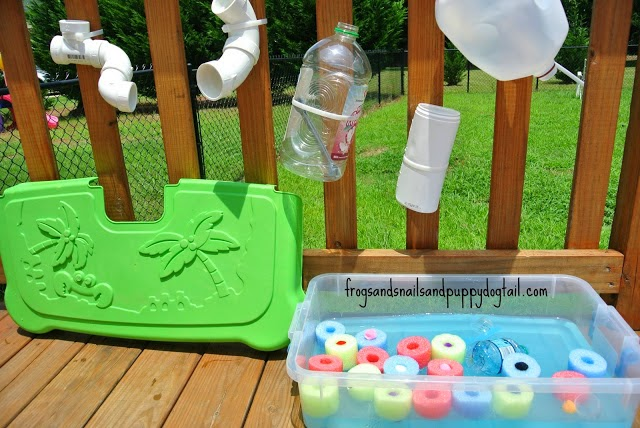 http://www.frogsandsnailsandpuppydogtail.com/2013/07/pool-noodle-water-bin.html