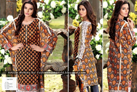 SNM Summer Lawn Dress Designs 2015
