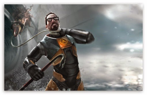 half life 2 gordon freeman barnacle crowbar