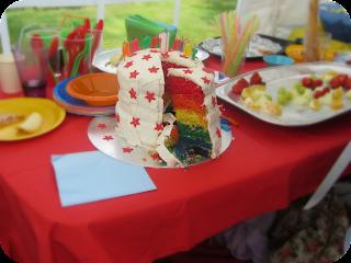 rainbow cake, first birthday cake, homemade rainbow sponge, silent sunday