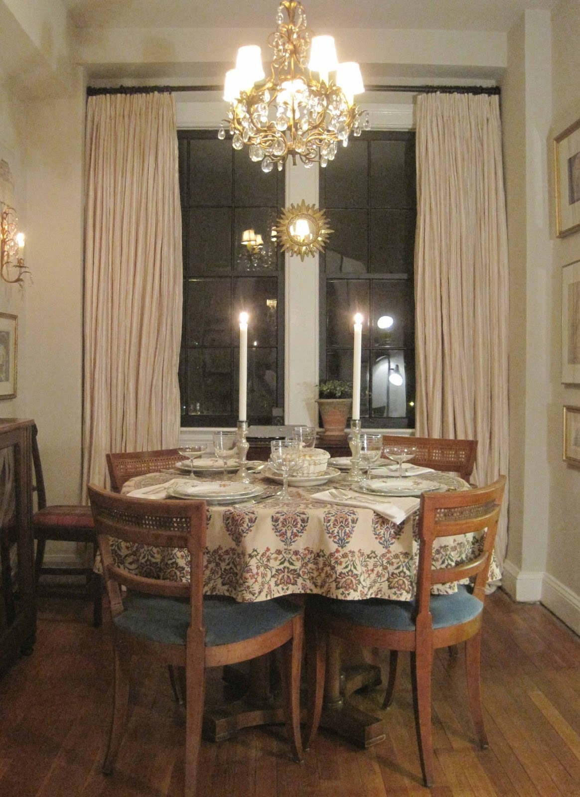 Before I Moved In The Dining Room Had An Ugly Chandelier And Wood