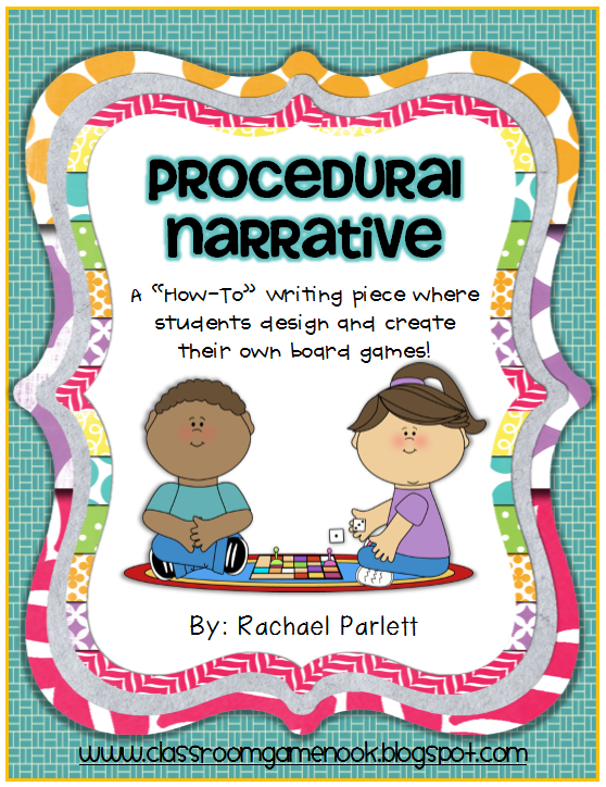 https://www.teacherspayteachers.com/Product/Procedural-Narrative-How-to-Design-a-Board-Game-with-Directions-155311