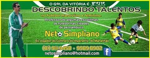 ESCOLINHA DE FUTEBOL DO AMIGO NETO SIMPLIANO