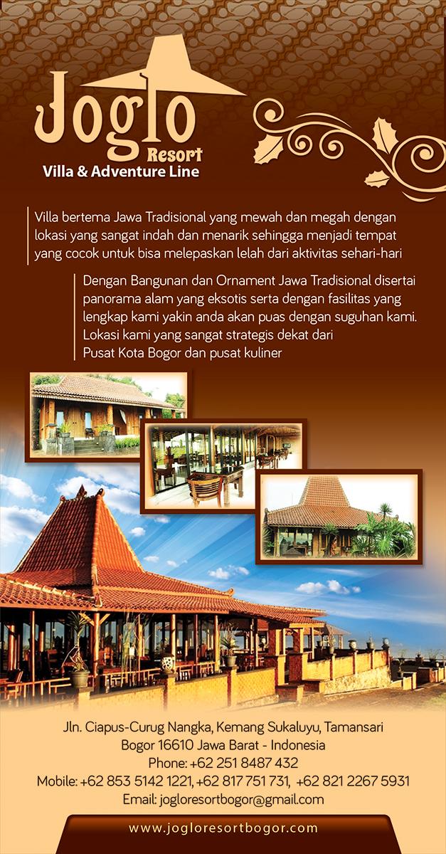 Contoh Desain Brosur Villa Joglo Resort Villa Adventure Line