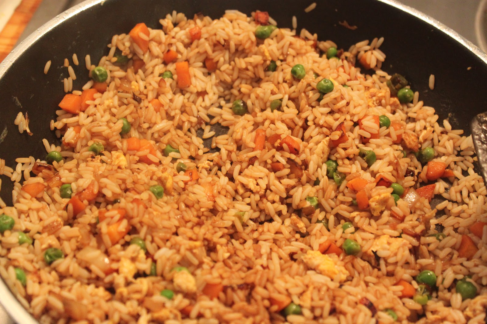 Mexican Fried Rice Add the rice and soy sauce,