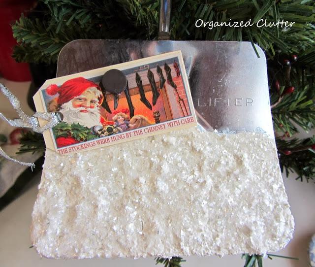 Spatula Re-purposed as a Snow Shovel www.organizedclutterqueen.blogspot.com