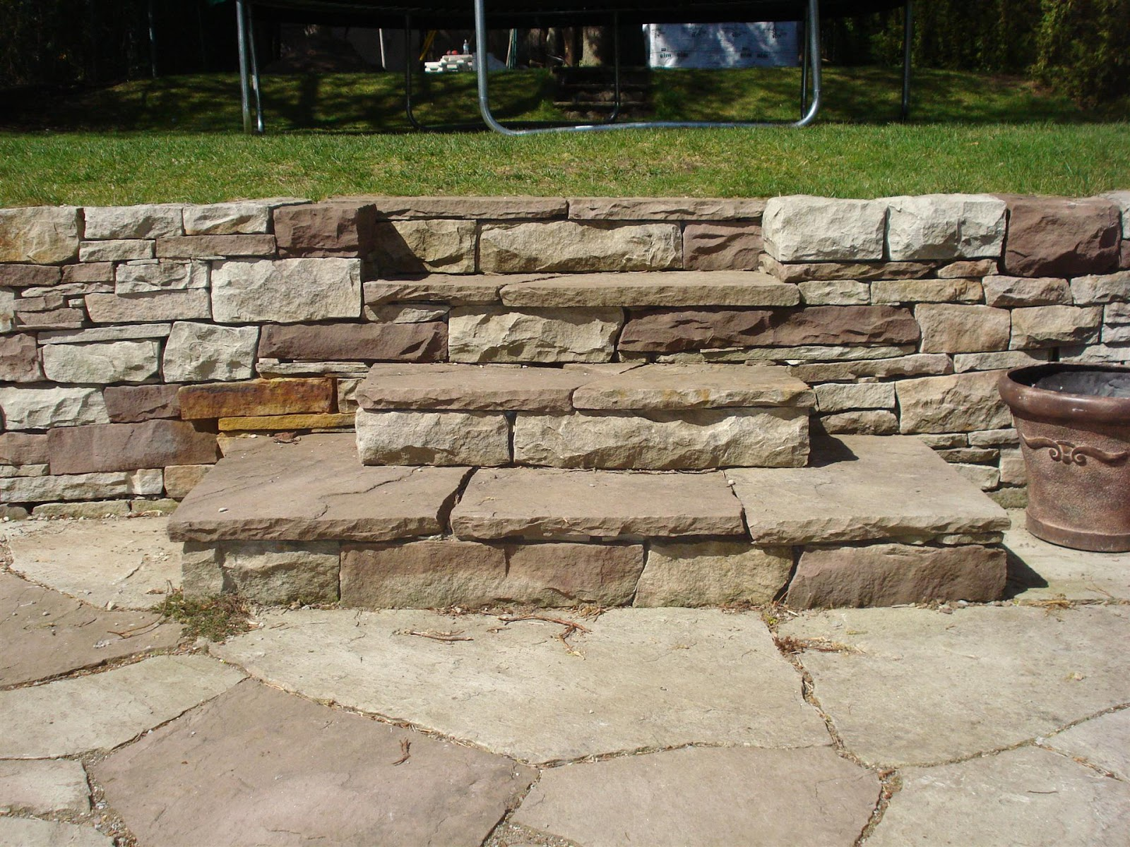 Building Stone Steps : Dry stone building march