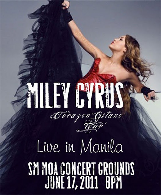 Miley Cyrus Live Concert in Manila Poster